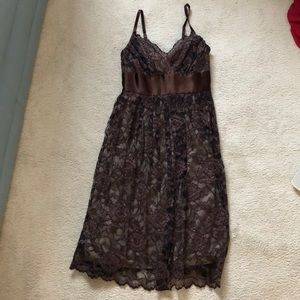 Dresses & Skirts - Brown Lace Dress